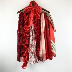 ❤️Hearts on Fire Red Shades BUNDLE Mixed Scarves❤️